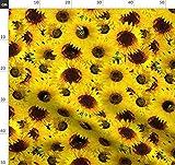 Biene, Wasserfarben, Sonnenblume, Gelb, Frühling, Natur