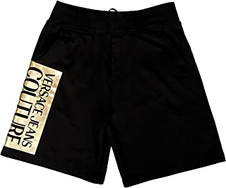 Versace Jeans Couture Black Cotton Blend Cuffed Logo Drawstring SweatShorts-XL for Mens