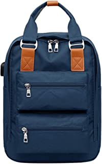 JpOTSUT Women Laptop Backpack Stylish Computer Backpack School Backpack Casual Daypack Laptop Bag Water Repellent Nylon Business Bag The North face Backpack (Color : Blue)