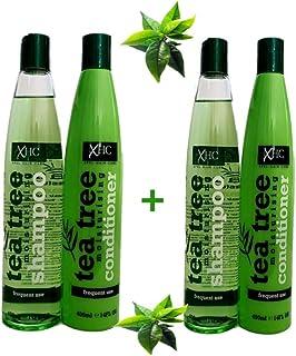 Xhc - Árbol de té hidratante champú para el cabello volumen brilla & limpieza 400ml