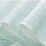 GAIXIA Plain 3D Non-Woven Wallpaper Wallpaper Solid Color Diatom Mud Bedroom Wallpaper (Color : Light Blue)