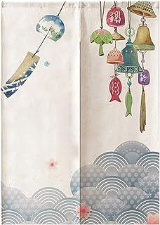 B Blesiya Divisor de Habitación Cortina de Puerta de Cocina Tapicería Noren Japonés - Campanas de Viento