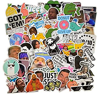112 Pcs  Funny Meme Vinyl Stickers Pack Vine Stickers for Laptop iPhone Water Bottles Computer and Hydro Flask DIY Decor for Bumper Wall