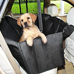 Customer reviews GHB Dog Car Seat Cover Waterproof with Dog Seat Belt for Car