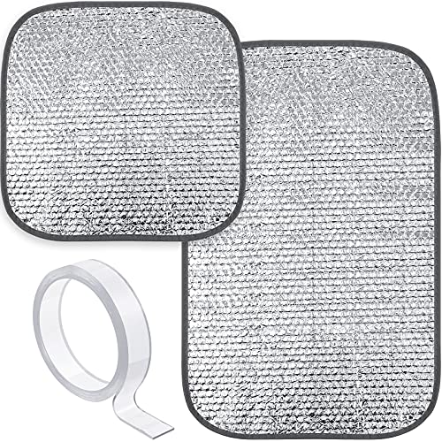 2 Pieces RV Door Window Skylight Shade Sunshield Reflective...