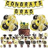 Palloncini oro nero, con agata, palloncini dorati, per donne, uomini e compleanni, decorazione di laurea, festa di Halloween