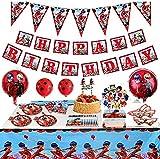 145pcs Ladybug Birthday Party Supplies-Miraculous Ladybug Balloons for Girls Birthday Party Baby Shower -10 Children Kids Ladybug Theme Birthday Celebration