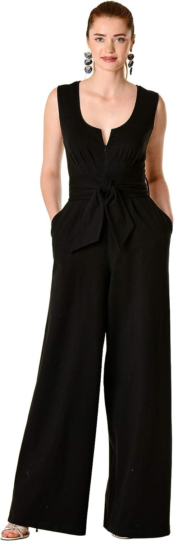 eShakti 5 ☆ At the price of surprise popular FX Zip Front Cotton Palazzo Customizable Jumpsuit- Knit