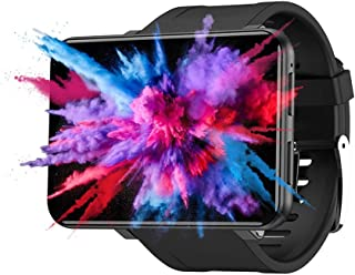 "Multifunction Intelligent Watch 2.86"" 3+32GB Smart Watch Men Women 4G LTE Network Smartwatch for Android 7.1 with 8MP Camera 2880 mAh Smart Watch Multi-Sport Mode GPS Fitness Bracelet (Black)"