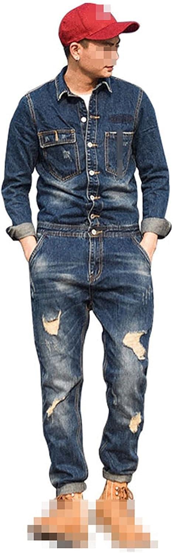 Tealun Spring 100% quality warranty! Bib Overalls Men Fashi Denim Jumpsuits Long free Sleeve