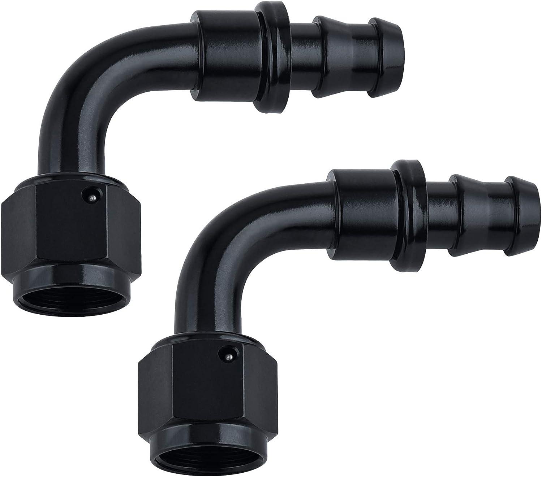 SYKRSS 10AN 90 Degree Phoenix Mall Push Lock Rubb Fitting Swivel For Seasonal Wrap Introduction Hose End
