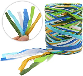 G2PLUS 262 Feet Raffia Paper Ribbon,6 Colored Packing Paper String Perfect for Gift Wrapping and DIY Decoration