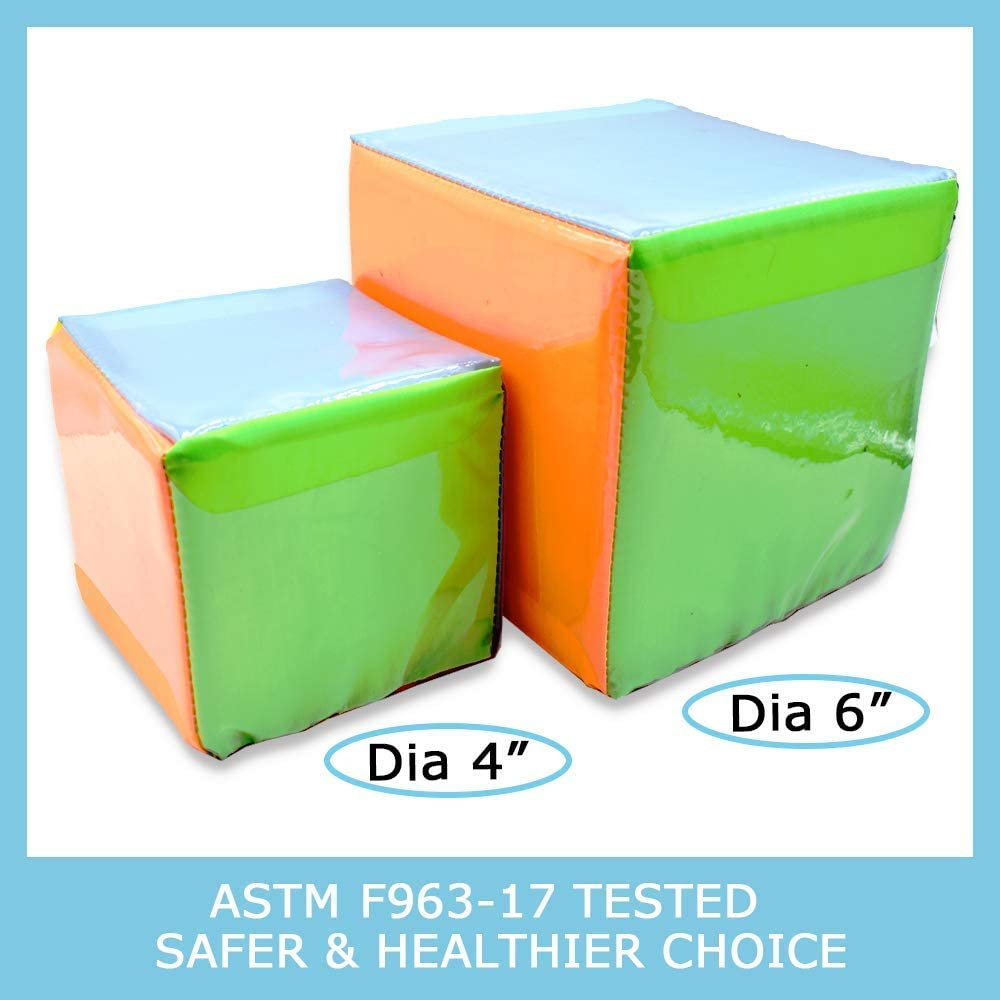 Soft Foam Cube Educational Pocket Dice Set for Toddler Activity Learning Teaching Game for 2 Year Old and Up Arise Foam Dice Movement Toy Cube for Home Pre School Pack of 4 4 Inch Classroom