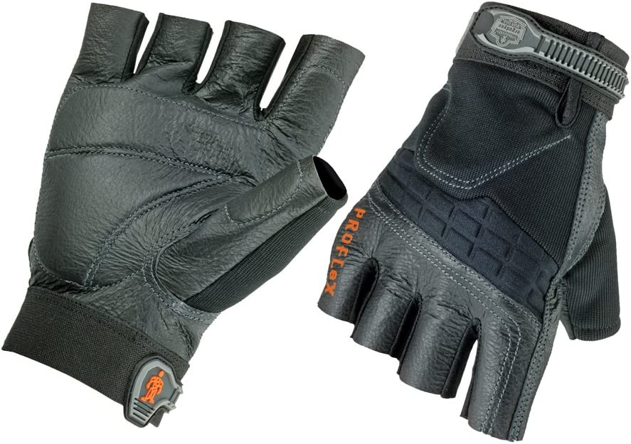 Ergodyne ProFlex 900 famous Impact-Reducing Work Gloves Half-Fingered Super popular specialty store