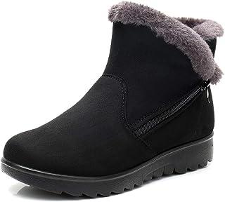 Women's Winter Warm Side Zipper Snow Boots