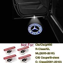 4PCS LED Car Door Logo Light Emblem Projector Ghost Shadow Welcome Light for Mercedes Benz C E Class C300 W205 W212 W213 ML300 ML350 X253 W176 W177 AMG 4MATIC Accessories
