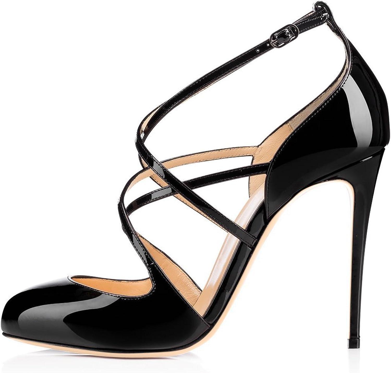 Joogo Women's Fashion Round Toe Trendy Decoration Heelpiece Sandals