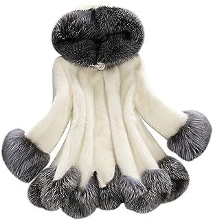 WINCASE Store 100% フォックス毛皮 ファーコート レディース ロング丈 大きいサイズ 毛皮コートハイウエスト もこもこ 着痩せ効果 防寒保温 おしゃれ 上質 上品 黒/白 7サイズ選択
