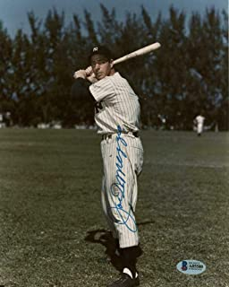 Joe DiMaggio Signed Picture - 8x10 Beckett Loa - Beckett Authentication - Autographed MLB Photos