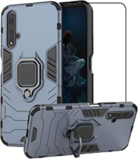 2ndSpring Case for Huawei Nova 5T / Honor 20 with Tempered Glass Screen Protector,Hybrid Heavy Duty Protection Shockproof ...