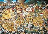 Desconocido Rompecabezas Puzzle 1000 Piezas Jigsaw Puzzle Desafío de dificultad de la Batalla de Trafalgar Divertido Juego Familiar cartón Resistente desafío