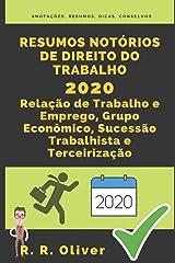 Resumos Notórios: Direito do Trabalho 2020 - Relação de Trabalho e Emprego, Grupo Econômico, Sucessão Trabalhista e Terceirização Capa comum