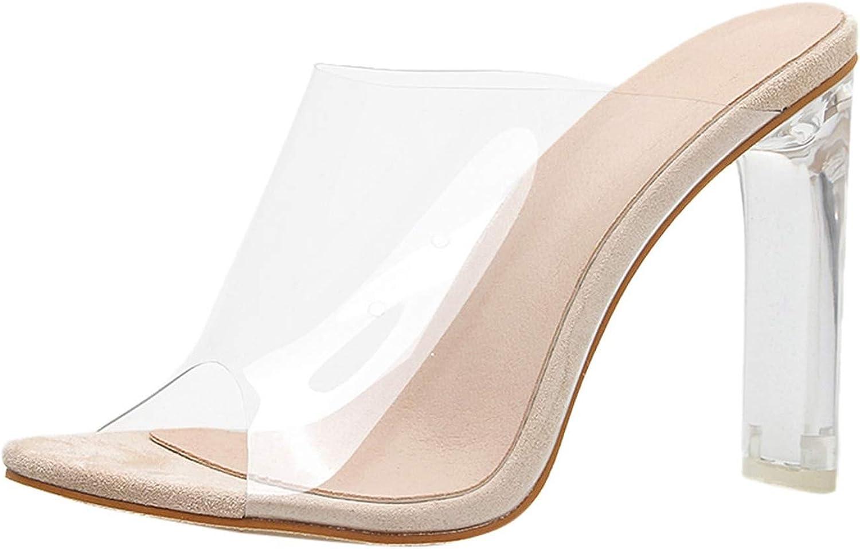 Summer Ladies Luxury Sandals shoes Woman High Heel Transparent Sandals Sexy Peep High Heels Sandals Sandalias women 2019,Beige,5.5