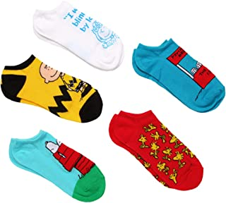 Peanuts Snoopy No Show Socks 5 Pack