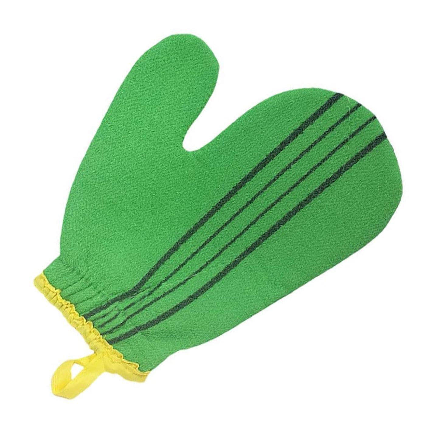 ボス三角形主人(韓国ブランド) 特大サイズ スポンジあかすり 手袋型 全身エステ 両面つばあかすり お風呂グッズ ボディタオル ボディースポンジ