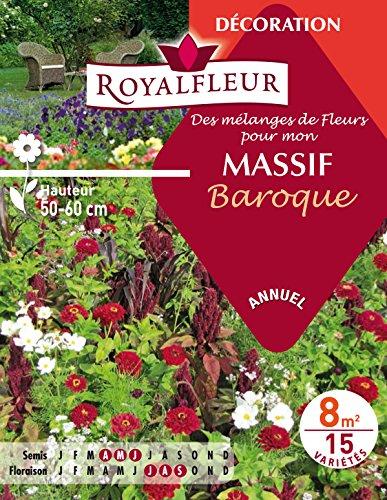 Royalfleur PFRE08634 Graines de des Mélange de Fleurs mon Massif Baroque 8 m²