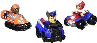 Paw Patrol Rescue Racers 3pk Online Exclusive 2 (Chase, Zuma, Ryder) vehículo de juguete - Vehículos de juguete (Zuma, Ryder), Multicolor, Camión, De plástico, Interior, 3 año(s), Niño/niña)