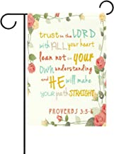 ALAZA Duble Sided Bible Verses Rose Love Truth Lord Polyester Garden Flag Banner 12 x 18 Inch for Outdoor Home Garden Flower Pot Decor