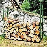 Utile per tenere alzato da terra la legna evitanto di farla bagnare Dimensioni: lunghezza di 120 cm, larghezza da 24 cm e un'altezza di 95 cm Struttura in ferro con tubolari quadrati da 2 cm per una maggiore stabilità Colore verde