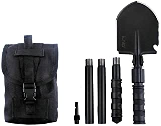 iunio Folding Shovel, Portable, Camping Multitool, Foldable Entrenching Tool, Collapsible..