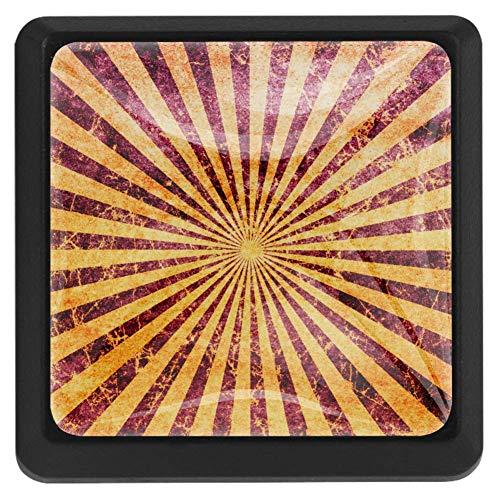 Grunge Strips Hintergrund Schubladenknauf Pull Griff Kristallglas quadratische Form Schrank Schublade Knauf mit Schrauben für Home Office Schrank Schrank 3 Stück
