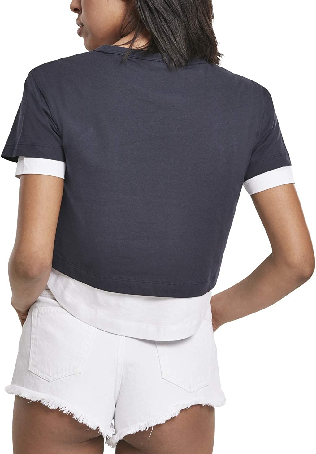 Double Layered Short Cropped Top Urban Classics Ladies