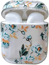 Airpods Case, Cute Airpods Cover, JANDM Clear Smooth Shockproof Protective Girls Kids Flowers Case for Apple AirPods Charging Case 2 & 1 (Gardenia)