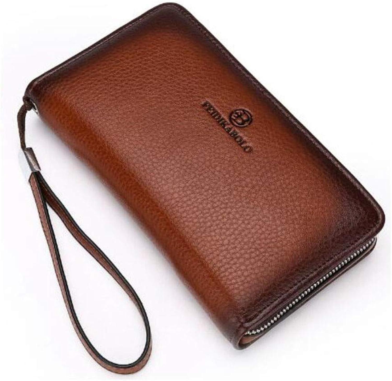 LMSHM Lange Brieftasche Für Herren Luxus Männliche Leder Geldbörse Herren Clutch Wallets Handliche Taschen Business,A,22  12  5,2 cm B07M9ZV2SC