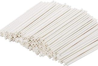 200 Count White Lollipop Sticks 6 Inch,Paper Treat Stick,Sucker Sticks for Cake Pops,Candy Melt,Dessert,Chocolates(3.5mm Dia)