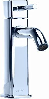 Cifial 224.100.625 Techno Quadra 25 Single Handle Low Profile Lavatory Faucet, Polished Chrome