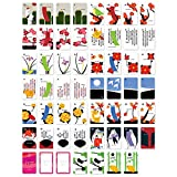 Japanese Hanafuda Playing Cards Set, Flower Card Game, Jokers Included, 55 Cards, Style