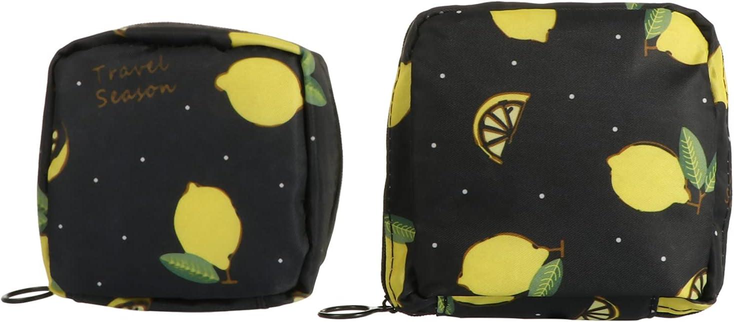 Direct stock discount DOITOOL 2Pcs Sanitary Napkin Max 89% OFF Bag Holder Patter Nursing Pad Lemon