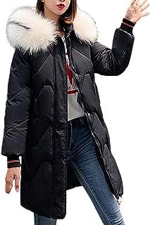 Beautyfine 2019 Women Hooded Coat Winter Warm Thick Loose Pocket Jacket Long Overcoat