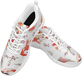 Zenzzle Women's Running Sneakers Oriental Pattern with Rainbow carps Casual Lightweight Athletic Sneakers Size US6-12