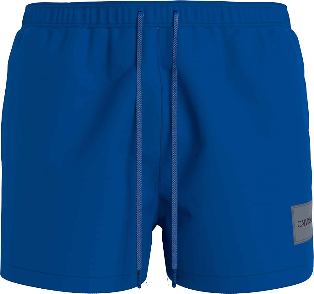 Calvin klein short drawstring,  costume a pantaloncino per uomo, 100% poliestere KM0KM00577B