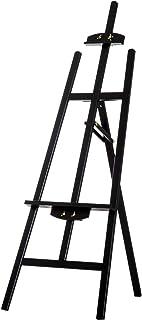 Chevalet d'artiste sur pieds inclinaison réglable jusqu'à 90° dim. 48L x 71l x 140H cm bois de hêtre noir