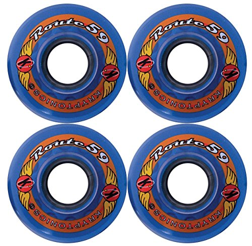 KRYPTONICS Route 59MM 78A Blue Longboard Cruiser Skateboard Wheels