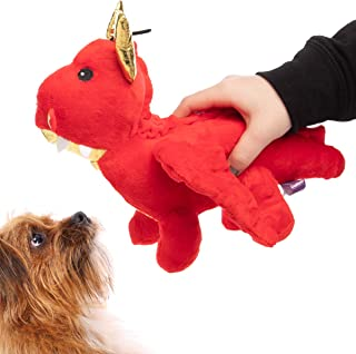Multipet Companion Dragon Dog Toy Plush Crinkle Sound Soft Squeaker Safe Comforting Dog Toys Dragon Dog Toys