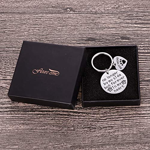 Pet Cat Dog Memorial Keychain Gifts for Pet Owner Dog Mom Dad Remembrance Memory Sympathy Gifts for Loss of Dog Pet Loss Gifts Keepsake for Dog Lover Forever in My Heart Paw Print Keyring Photo #4