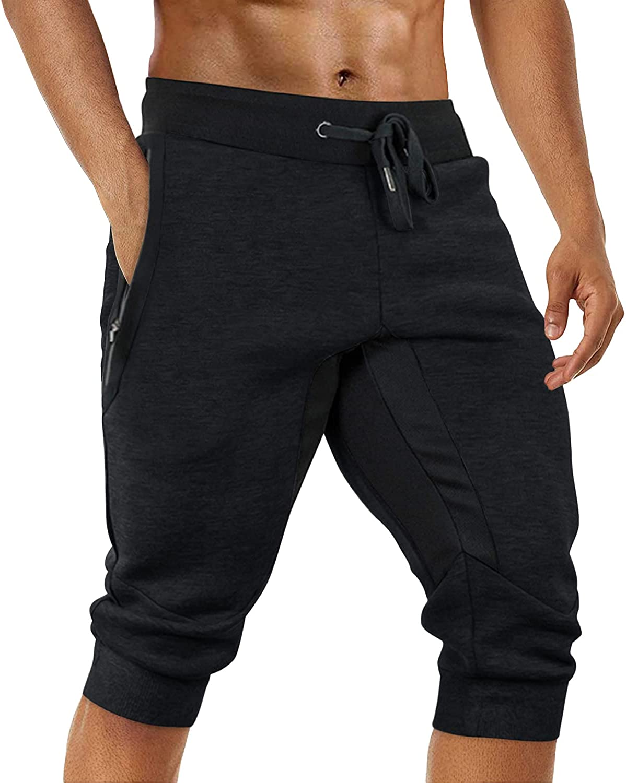 TOTNMC Men's 3 4 Joggers Pants Tapered Our shop most popular Cotton Capri Now free shipping Sweatpants P